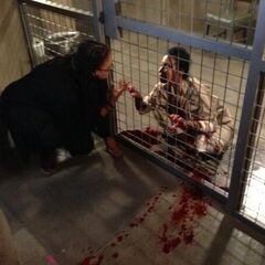 Director Ava DuVernay giving direction to guest star <a href=