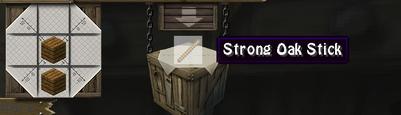 Strong oak stick