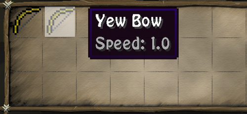 Yew bow