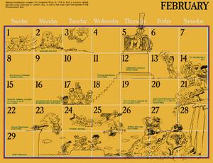 1976 sesame calendar 02 february 2