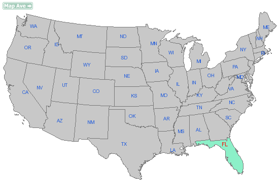 Image Usa Map Florida Statepng Scarface FANDOM Powered By Wikia - Us map with florida highlighted
