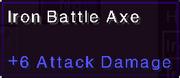 Iron battle axe stats