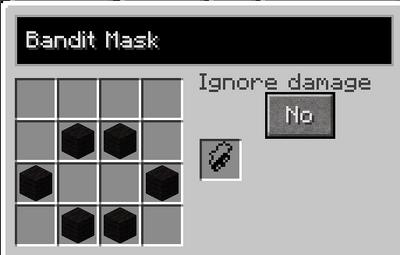Bandit mask recipe