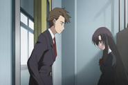 Kotonoha and Taisuke dispute