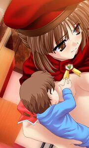 Rideru with baby