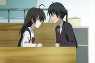 Makoto and Sekai dispute