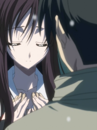 Kotonoha let's Makoto hold her chest