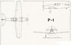 """Skizze Pilatus P-1"""