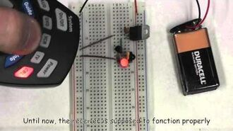 D.I.Y. How to make an infrared motion detector