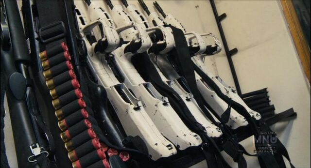 File:Vektor CR-21 Rifles with White Stocks and Ammo Belts.jpg