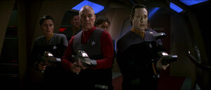 Picard and Data hunt Borg