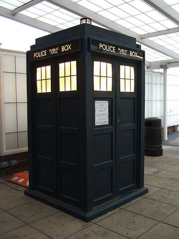 File:Doctor Who's Tardis under glass.jpg