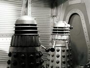 Daleks in black and white