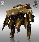 640x676 5347 Mech Helldiver 2d mech tank sci fi picture image digital art