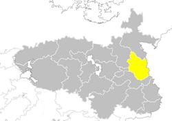 Nanzhao provinces map Shandong