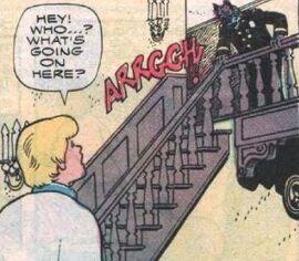 Werewolf Chief Kline at staircase