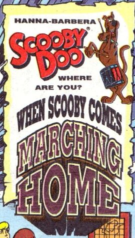 When Scooby Comes Marching Home title card
