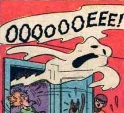 Gang scared by ghost (Spooky Wooky)