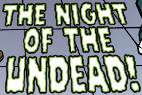 The Night of the Undead! title card