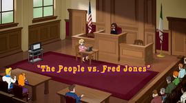 The People vs. Fred Jones title card