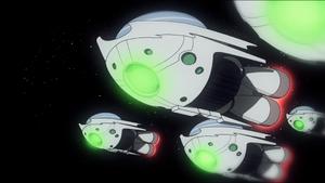 Alien fleet (Moon Monster Madness)