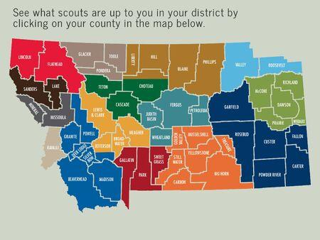Montana district map