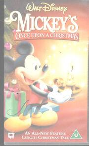 Mickeys once upon a christmas uk vhs