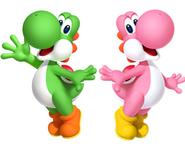 Yoshi and Pink yoshi