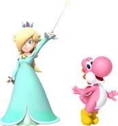 Rosalina and Pink yoshi