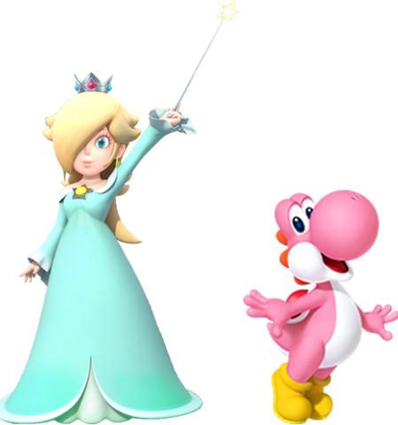 File:Rosalina and Pink yoshi.PNG