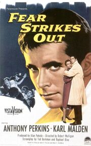 1957 - Fear Strikes Out Movie Poster