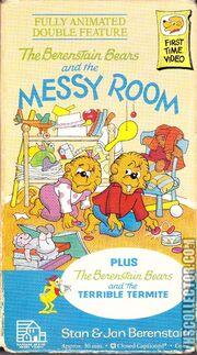 The Berenstain Bears And The Messy Room VHS Front Cover