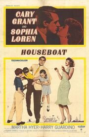 1958 - Houseboat Movie Poster