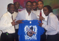 Alpha Chapter and Blair Underwood