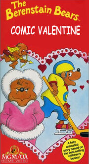 The Berenstain Bears Comic Valentine 1992 VHS Cover (MGM UA Home Video Version)