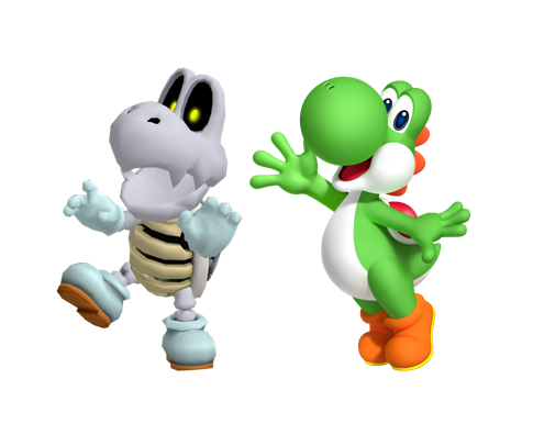 File:Yoshi and Dry bones.PNG