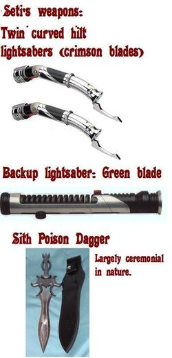Seti's weapons