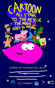Cartoon All Stars To The Rescue The Movie 2 Goes To Mars Movie Poster (2014)