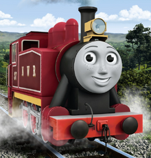 Rosie in her new Cherry Red Livery