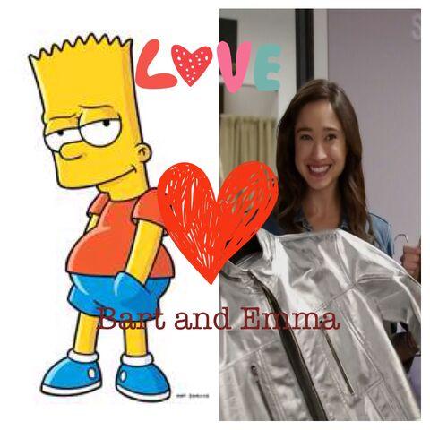 File:Bart Simpson and Emma Goodall.jpg
