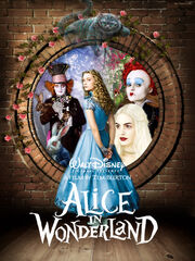 Alice in wonderland fan poster by amidsummernights