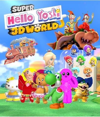 File:Hello yoshi 3D world wallpaper.PNG