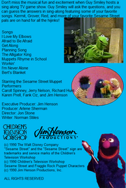The Sing Along Game Show Back Cover