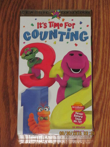 File:Barney It's Time For Counting VHS.jpg