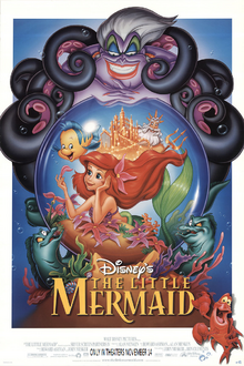 The Little Memaid 1997 Re-Release Poster