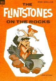 FLINTSTONES ON THE ROCKS COMIC BOOK COVER