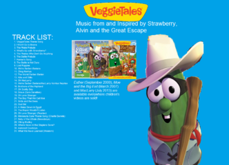 Back Cover of Strawberry Shortcake, Alvin Seville and the Big Exit Soundtrack