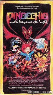 Pinocchio And The Emperor Of The Night VHS Front Cover