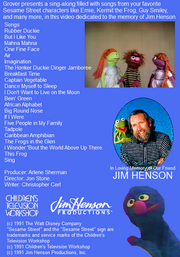 Jim Henson - A Sesame Street Celebration Back Cover