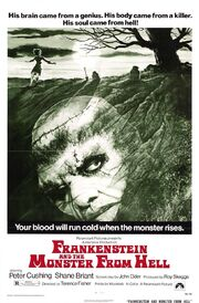 1974 - Frankenstein and the Monster from Hell Movie Poster